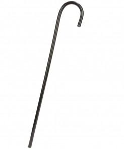 Eleganter Gehstock Gehstab Kostümzubehör schwarz 80cm