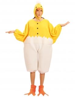 Küken Unisex-Kostüm Huhn gelb-weiss