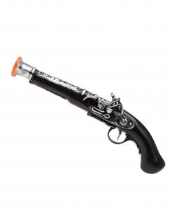 Piraten Pistole schwarz-silber-gold 35cm