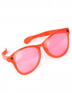 Witzige XXL-Brille Kostüm-Accessoire bunt