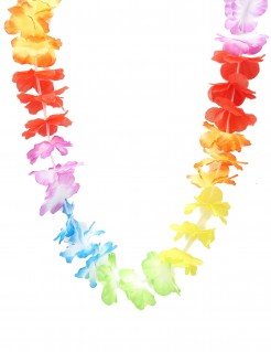 Blumenkette Hawaii Halskette bunt