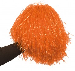 Pompom Cheerleader-Accessoire orange 35cm