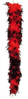 Federboa Boa rot-schwarz 180cm