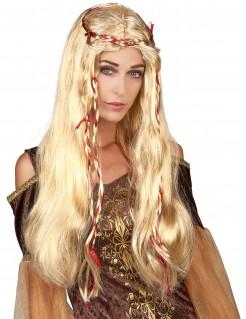 Mittelalter Damen-Perücke blond