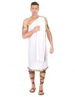 Römer Kostüm Toga Antike weiss-gold