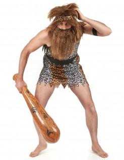 Höhlenmensch-Kostüm Neandertaler weiss-braun-schwarz