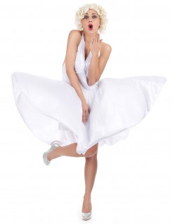 Marilyn Monroe Damenkostüm weiss
