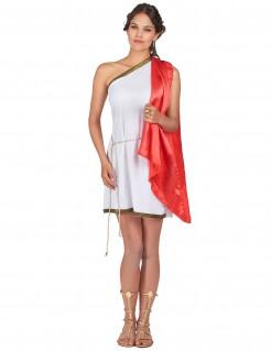 Römische Göttin-Damenkostümweiß-rot-gold
