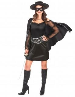 Dunkle Rächerin Damenkostüm schwarz