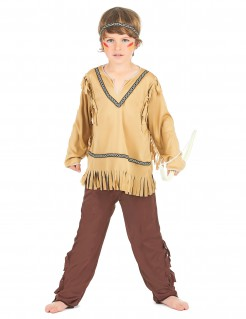 Wildwest Indianer Kinderkostüm beige-braun