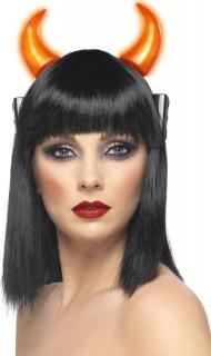 Leuchtende Teufelshörner Halloween-Kostümaccessoire