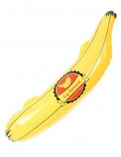 Aufblasbare Banane Party-Deko gelb-blau 73cm