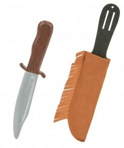Indianer Messer 28cm silber