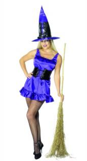 Sexy Hexe Halloween-Damenkostüm violett