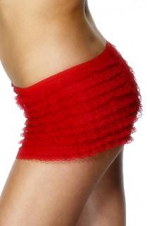 Rüschen-Panty mit Schleifchen rot