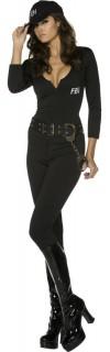 FBI Agentin Damenkostüm schwarz