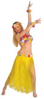 Hawaii Damenkostüm Set Deluxe gelb-bunt