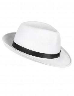 Eleganter Gangster-Hut weiss-schwarz