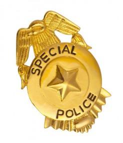 Police Abzeichen silber