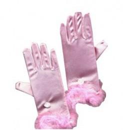 Prinzessin Handschuhe Kostüm-Accessoire für Kinder rose