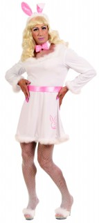 Drag Queen Bunny XL weiss-rosa