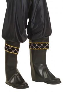 Stiefelstulpen Piraten schwarz