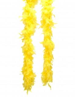 Federboa Kostüm-Accessoire gelb