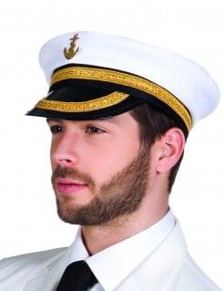 Marine Kapitänsmütze weiss-schwarz
