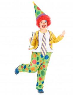 Lustiges Clown Kinderkostüm bunt