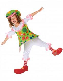 Clownkostüm für Kinder grün-bunt