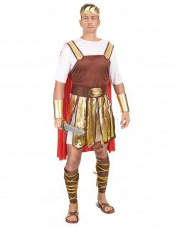 Römischer Legionär Soldaten-Kostüm braun-weiss-gold