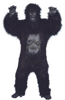Gorilla Kostüm Deluxe schwarz