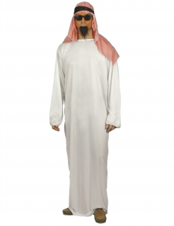 Arabischer Scheich Herrenkostüm weiss