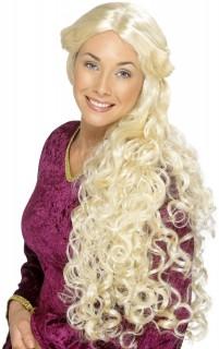 Mittelalterliche Langhaar-Perücke gelockt blond