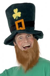 Kobold Hut und Bart grün-braun