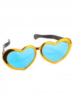 Herz Riesenbrille Junggesellinnen-Abschied bunt