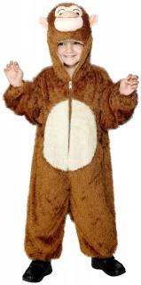 Kinderkostüm kleiner Affe braun-beige