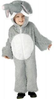 Elefanten-Kinderkostüm grau-weiss