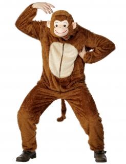 Affe Plüsch-Kostüm Tierkostüm Unisex braun-beige