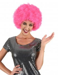 Afro-Perücke Karneval pink