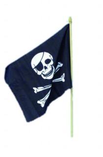 Piraten Flagge Totenkopf schwarz-weiss
