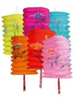 Chinesische Lampions Party-Deko 12 Stück bunt 16cm
