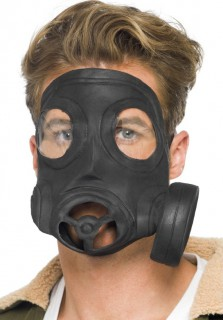 Gothic Latex-Gasmaske schwarz