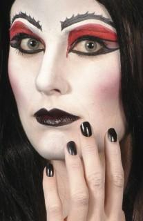 Halloweenschminke Make-Up Zubehör Nagellack und Lippenstift schwarz