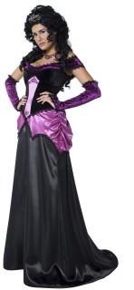 Gothic Gräfin Halloween Damenkostüm schwarz-lila