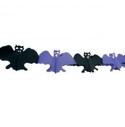 Fledermaus-Girlande Halloweendeko schwarz-lila
