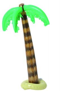Aufblasbare Palme Sommerparty-Deko braun-grün 91cm