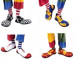 Lustige Clownsschuhe Kostüm-Zubehör gelb-rot