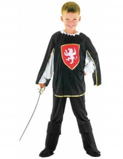 Tapferes Musketier Kinderkostüm schwarz-rot-weiss