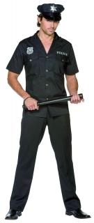 Polizei Kostüm Polizist schwarz